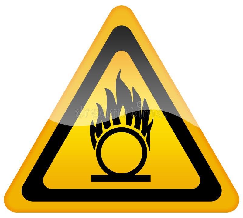 易燃气体氧气警报信号 库存例证