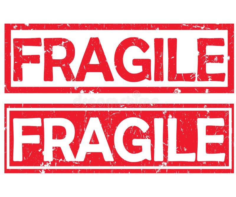 易碎-为运输产业设计的两张标签/邮票 向量例证