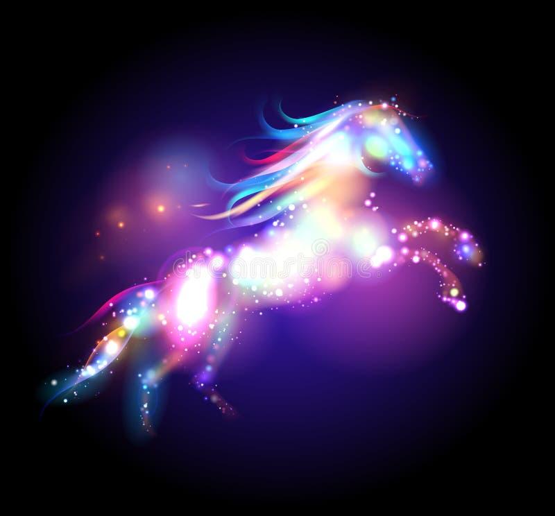 星不可思议的马商标 向量例证