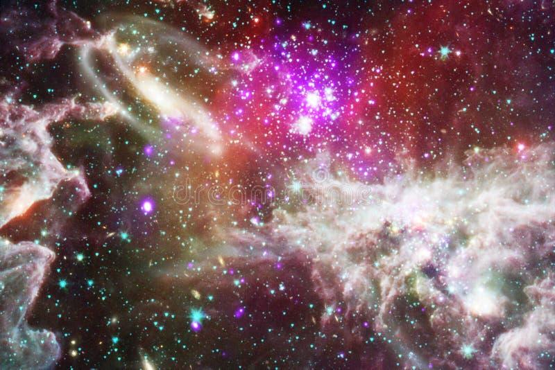 星云和星在外层空间,发光的神奇宇宙 库存照片