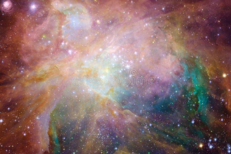 星云和星在外层空间 宇宙艺术,科幻墙纸 免版税库存图片