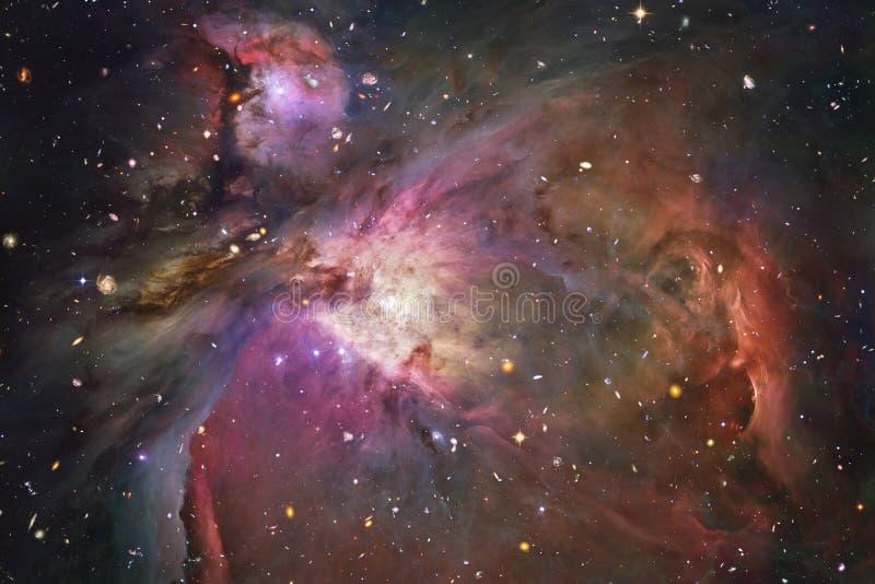 星云和星在外层空间 宇宙艺术,科幻墙纸 库存照片