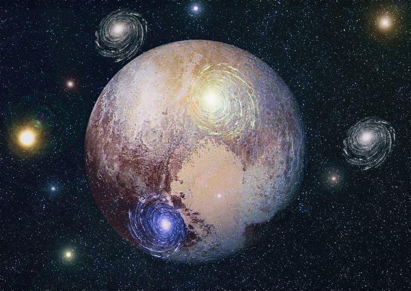 星云和星系在空间 美国航空航天局装备的这个图象的元素 皇族释放例证