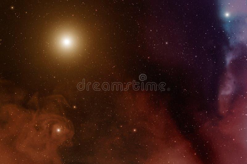 星云和星 免版税库存照片