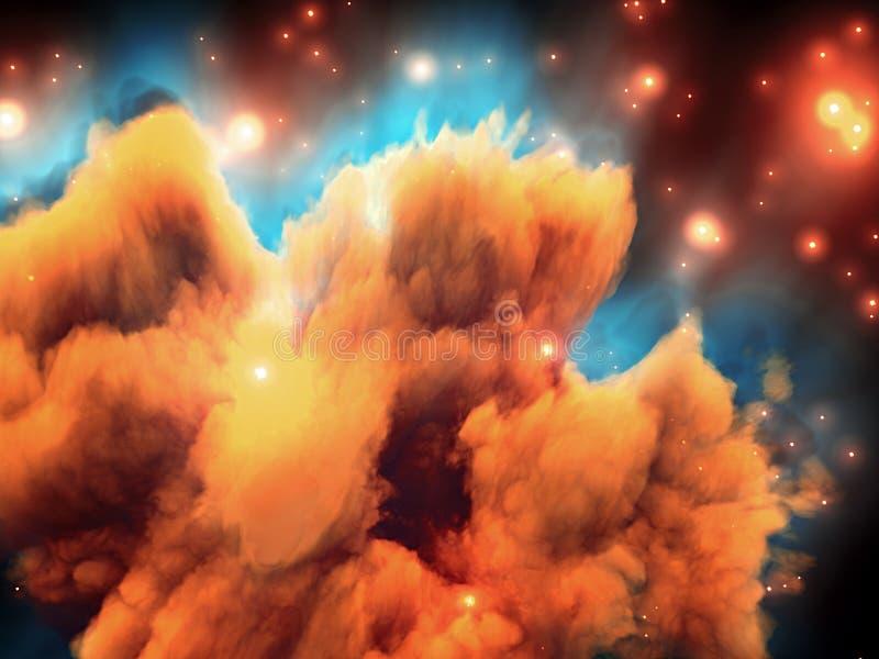 星云空间 向量例证