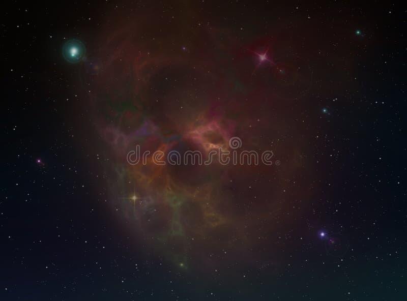 星云背景 库存图片