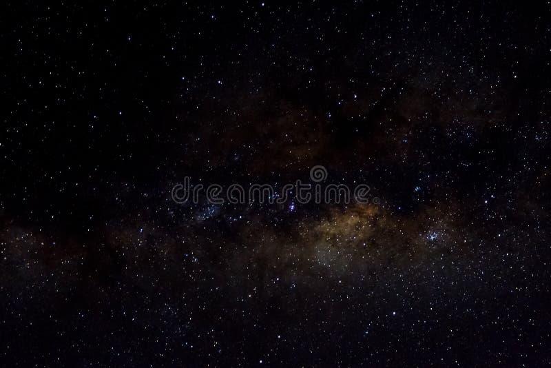 星和发光的starfield星系外层空间天空夜宇宙黑色满天星斗的背景  库存图片