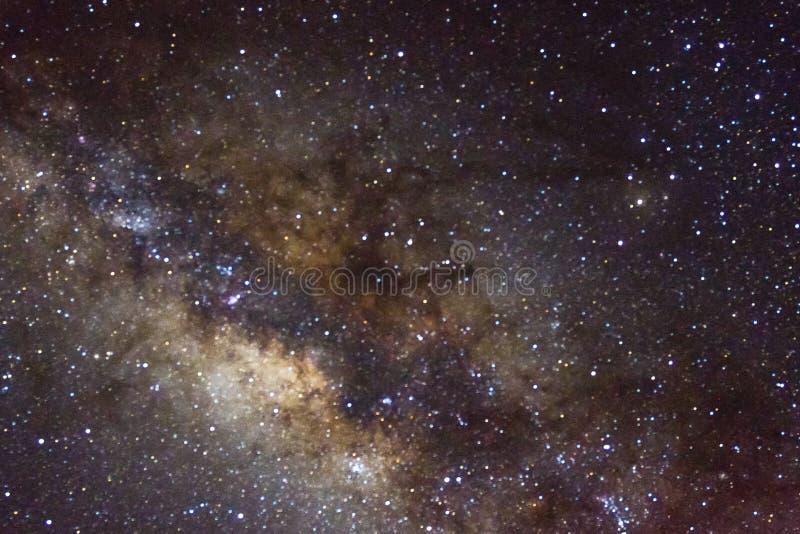 星和发光的starfield星系外层空间天空夜宇宙黑色满天星斗的背景  库存照片