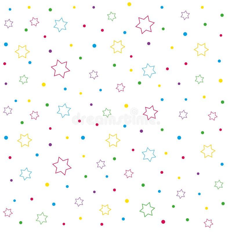 星和圆点无缝的样式 皇族释放例证