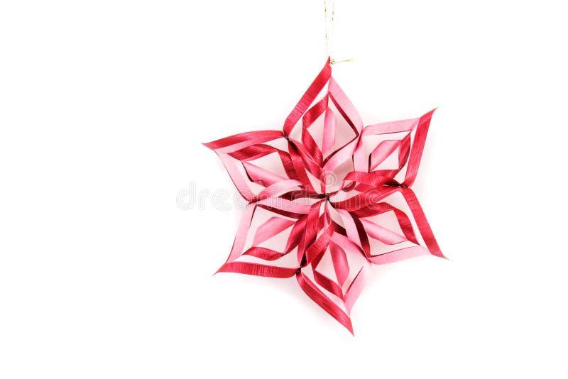 星和在白色背景隔绝的圣诞节装饰 韩 免版税图库摄影