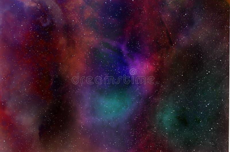 星和星尘号背景 皇族释放例证