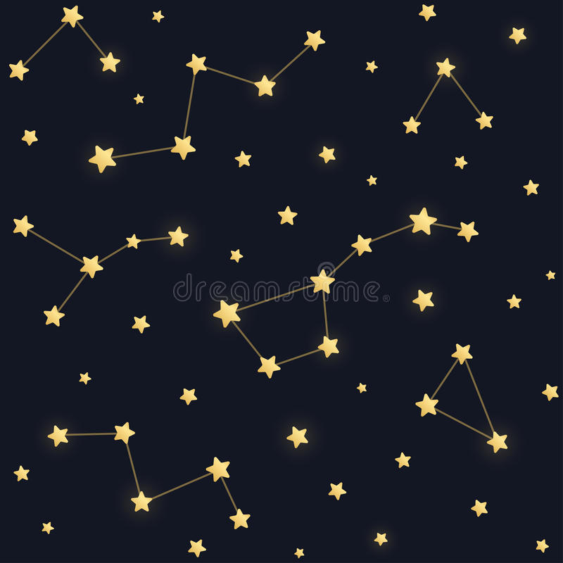 星和星座样式 皇族释放例证