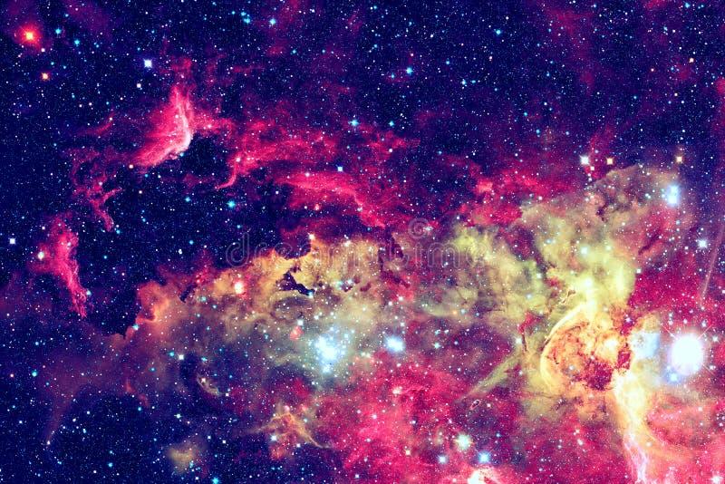 星和星系在一个外层空间 库存图片