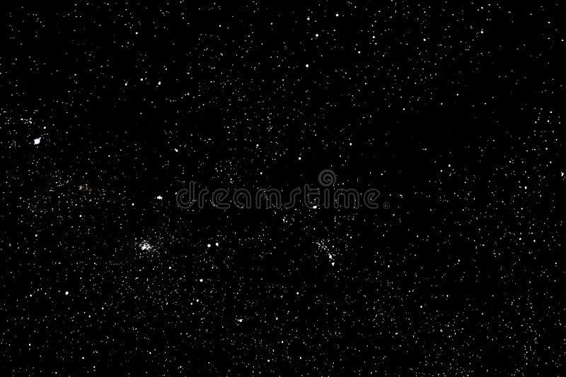 星和星系外层空间天空夜宇宙黑色满天星斗的背景,starfield 免版税库存图片
