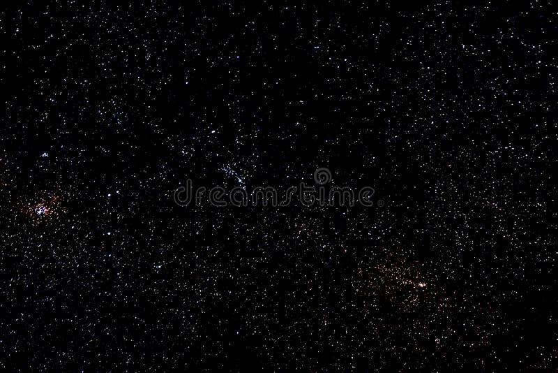 星和星系间隔天空繁星之夜背景 免版税库存照片