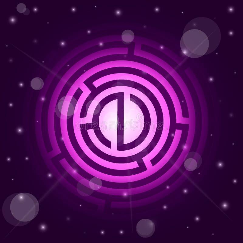 星和迷宫满天星斗的背景  向量例证