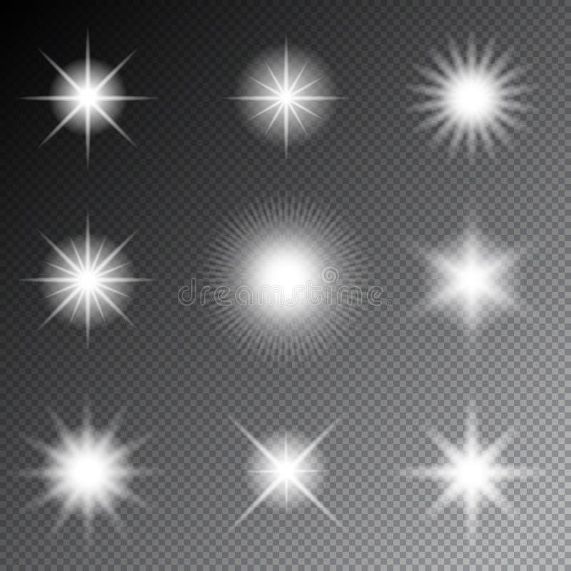 星和闪闪发光传染媒介 向量例证