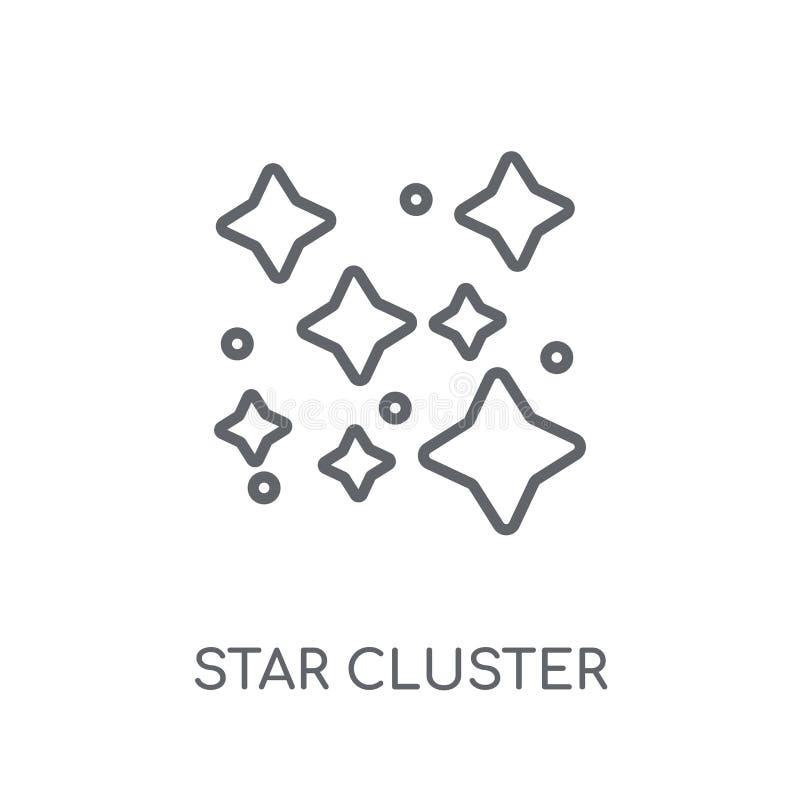 星团线性象 现代概述星团商标conce 皇族释放例证