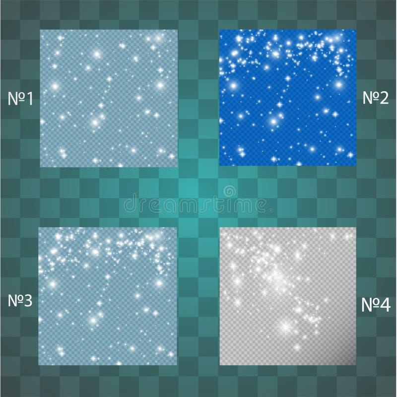 星团集合,数千精采光 向量例证
