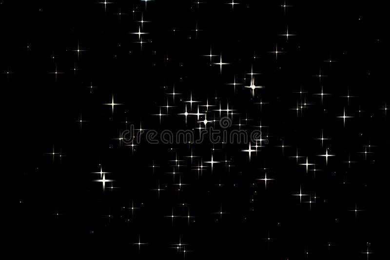 星团M47金黄星美丽的夜空 库存例证