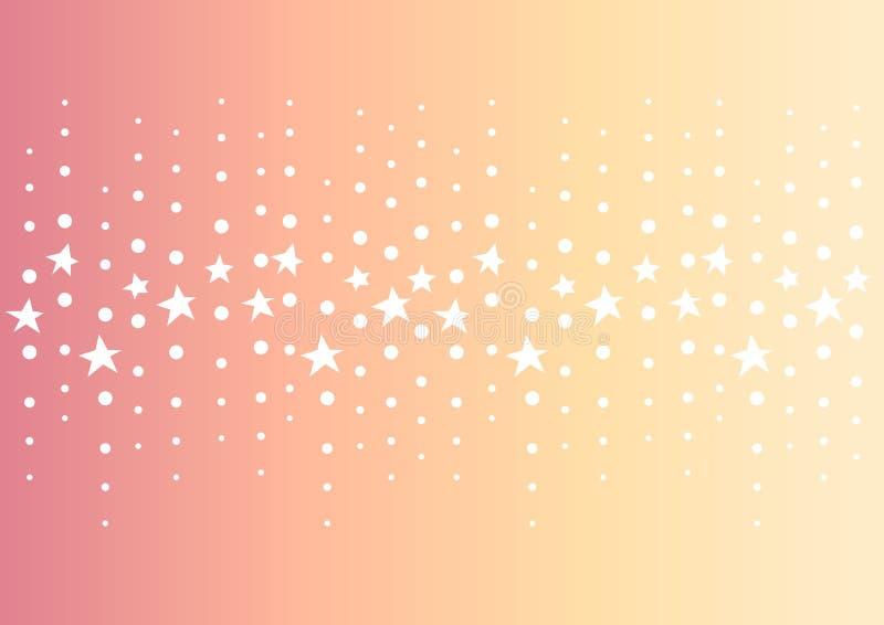 星小点线中心摘要桔子背景 向量例证