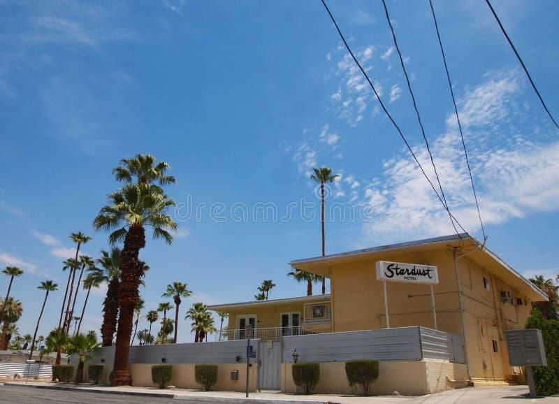 星尘号旅馆棕榈泉加利福尼亚 库存照片