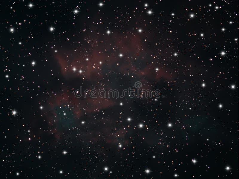 星座天空星形 库存例证