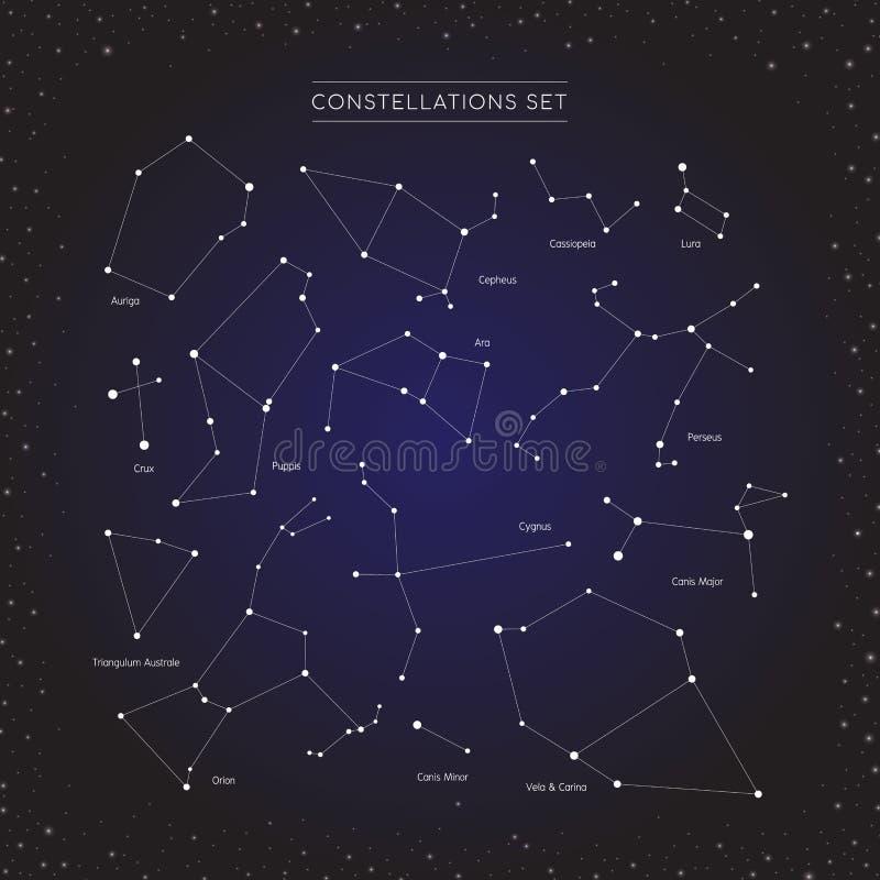 星座星集合 库存例证