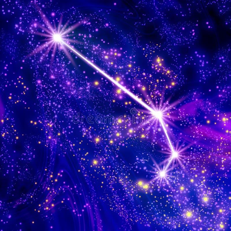 星座白羊星座 向量例证