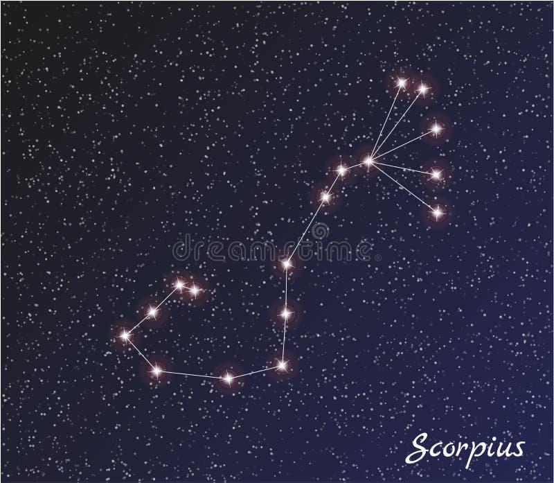 星座scorpius 皇族释放例证