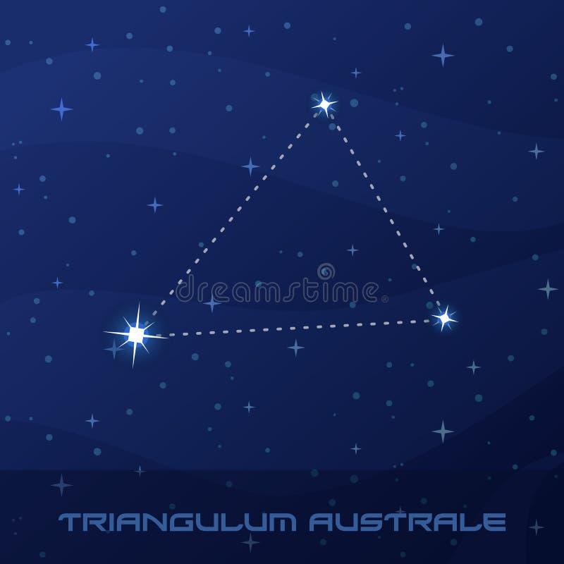 星座Triangulum Australe,南部的三角 皇族释放例证