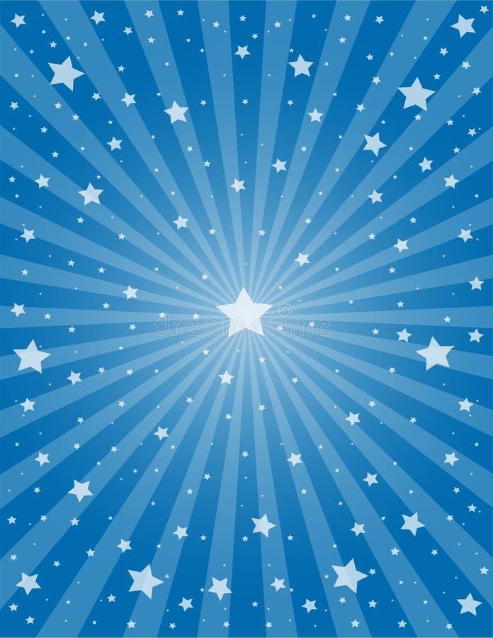 星形和光芒 皇族释放例证