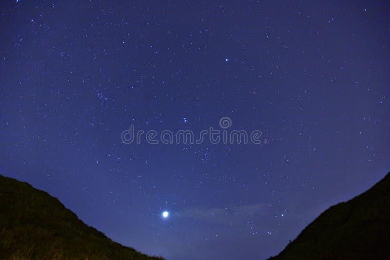 星形在晚上 免版税库存照片