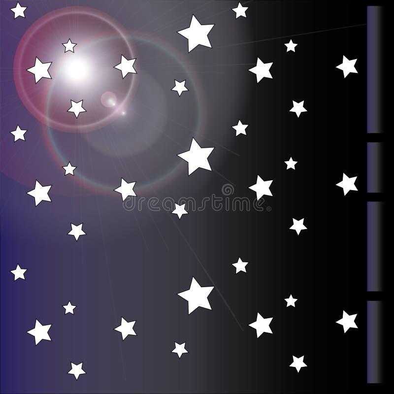 星形墙纸 免版税库存图片