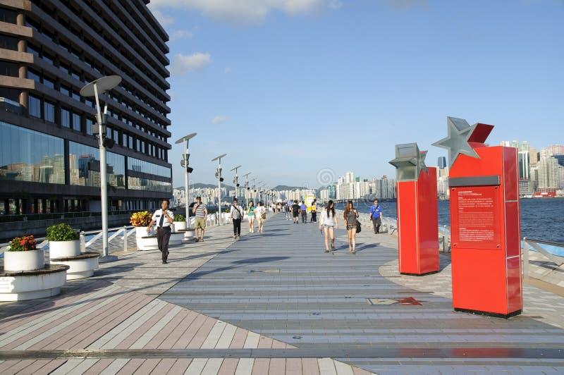 星形大道在香港 免版税库存照片