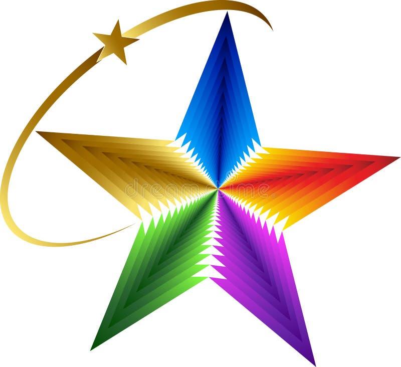 星形徽标 库存例证