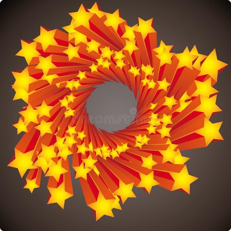 星形漩涡 向量例证
