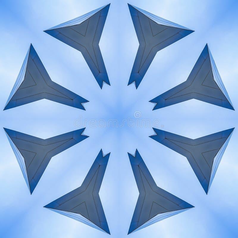 星形状用八边做了由金属 皇族释放例证