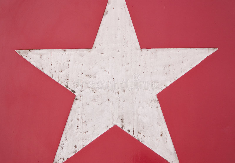 星形白色 库存图片