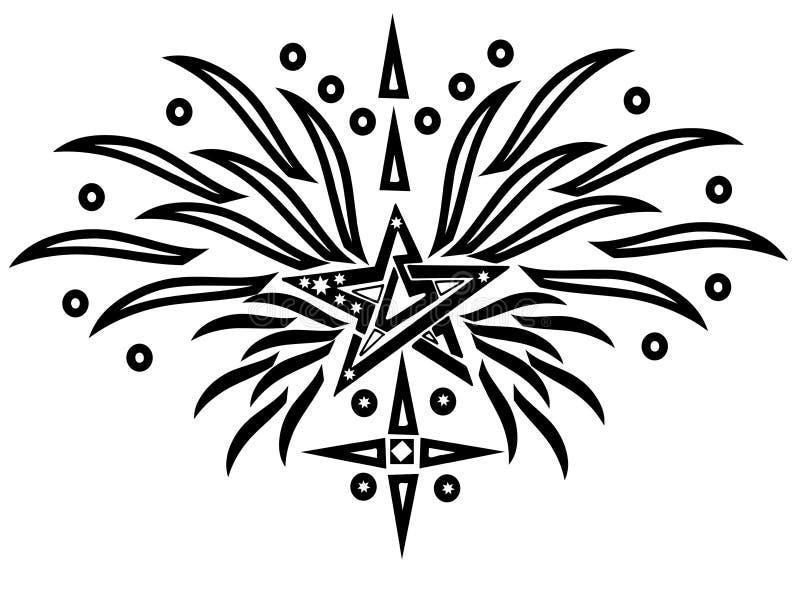 星形纹身花刺 皇族释放例证