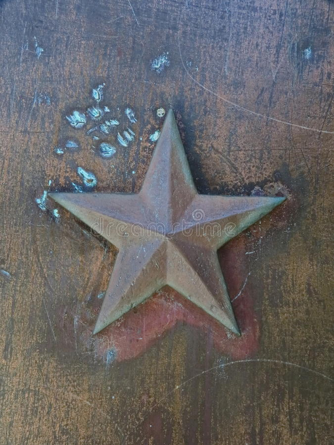 星形金属背景 免版税库存照片