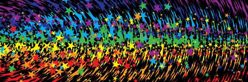 星彩虹积极的横幅 向量例证