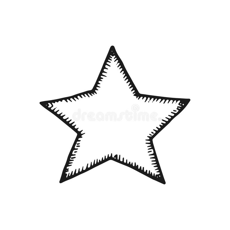 星手图画 背景查出的白色 皇族释放例证