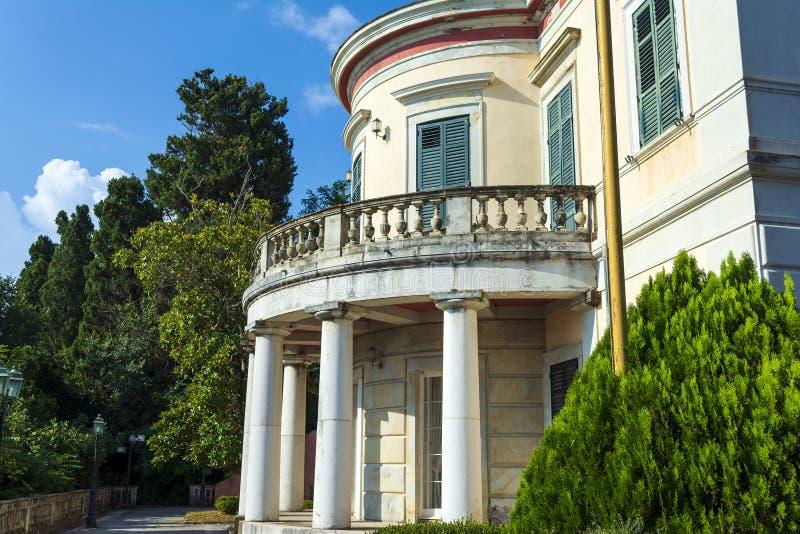 星期一回购宫殿在科孚岛海岛,希腊 库存照片