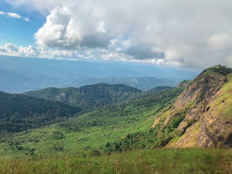 星期一在蔡恩mai,泰国的jong山 免版税库存照片