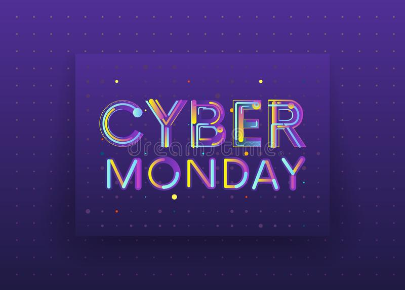 星期一网络,网络购物和营销概念,传染媒介 向量例证