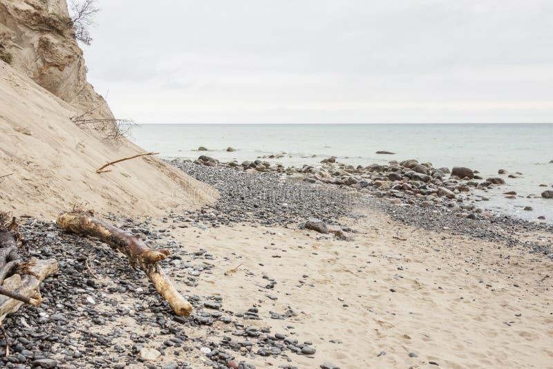 星期一,丹麦-白色峭壁 库存照片