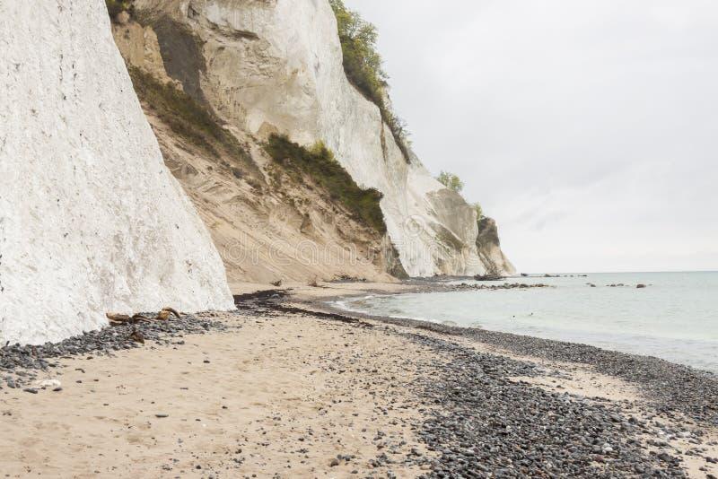 星期一,丹麦-白色峭壁 免版税图库摄影
