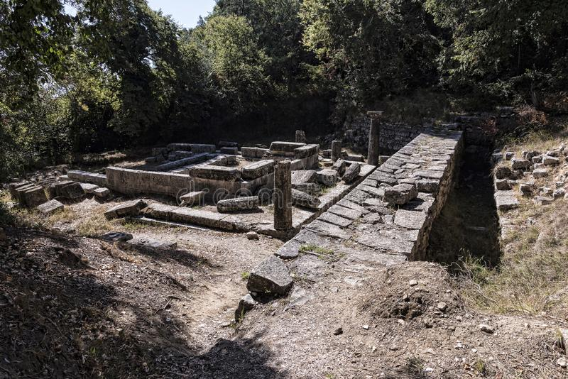 星期一Pepose宫殿的地面在科孚岛希腊 图库摄影