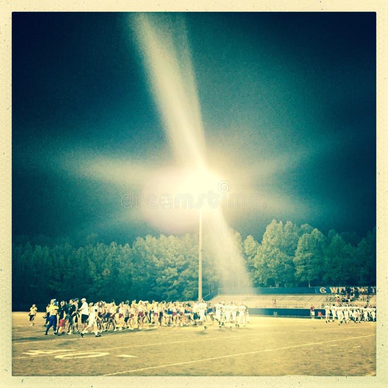 星期五晚上橄榄球赛 图库摄影